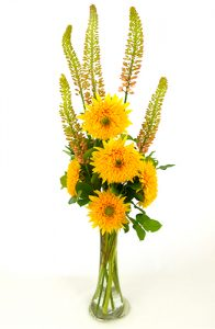 sunflower & foxtail_vase