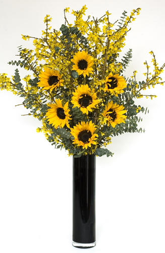 Sunflower Foxtail Vase